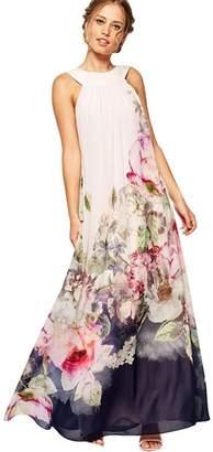 RCA AmyDong Women's Dress, Clearance Summer Beach Dress Women Casual Fit and Flare Floral Sleeveless Dress Halter Strap Dress Split Ends Skirt (S, )