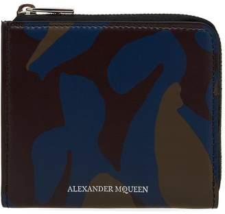 Alexander McQueen Zip Camo Wallet