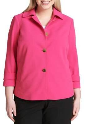 Calvin Klein Plus Plus Quarter-Sleeve Jacket