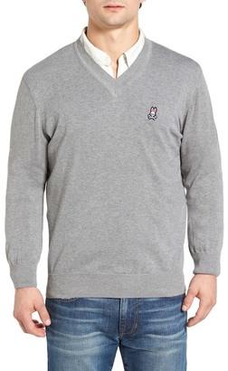 Psycho Bunny V-Neck Sweater $98.50 thestylecure.com
