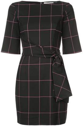 Alice + Olivia Alice+Olivia grid patterned midi dress