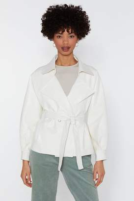 Nasty Gal Play the Hand You're Belt Faux Leather Jacket