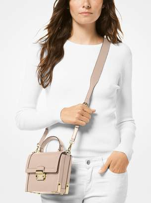 MICHAEL Michael Kors Jayne Small Pebbled Leather Trunk Bag