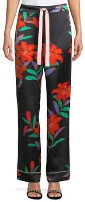 Diane von Furstenberg Wide-Leg Silk Pajama Pants