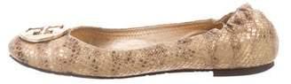 Tory Burch Metallic Leather Flats