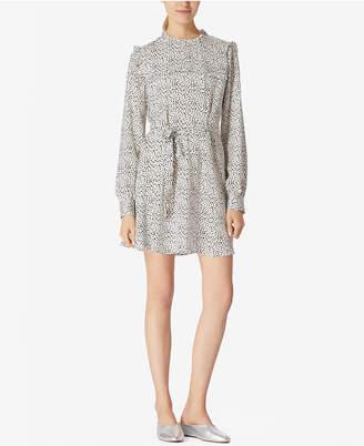 Avec Les Filles Ruffled-Yoke Mini Dress $98 thestylecure.com