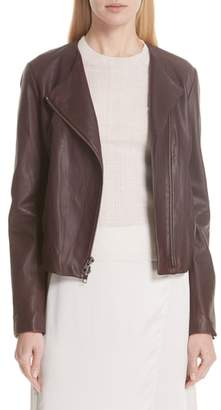 Vince Zip Cross Front Leather Jacket