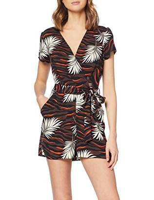 73168887a7 at Amazon.co.uk · Dorothy Perkins Women s Chocolate Orange Tiger Palm  Playsuit Brown 530