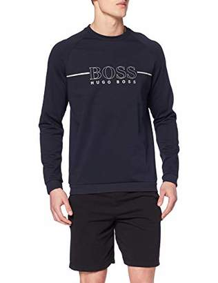 53dc6fb6 BOSS Men's Tracksuit Sweatshirt Sweater, Dark Blue 403