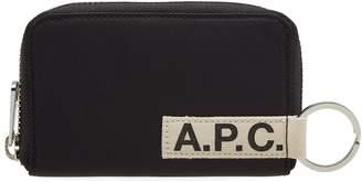 A.P.C. Godot Nylon Tape Zip Logo Wallet