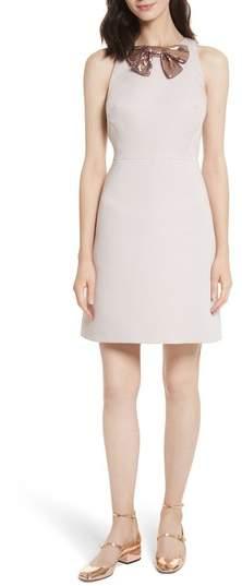 Women's Kate Spade New York Sequin Bow A-Line Dress