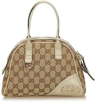 Gucci Vintage Guccissima Jacquard Handbag
