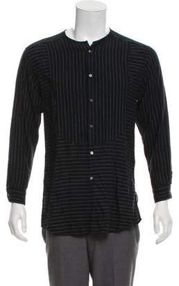 Robert Geller Striped Woven Shirt