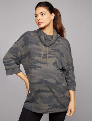 Splendid Pea Collection Camo Maternity Pull Over