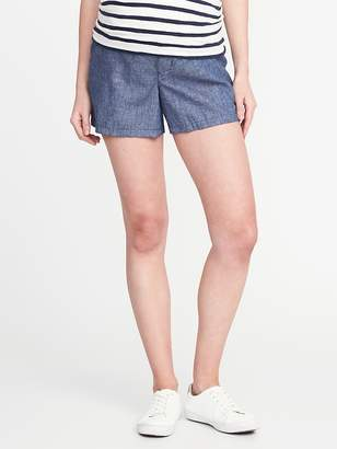 "Old Navy Maternity Side-Panel Linen-Blend Shorts (5"")"