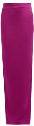 Calvin Klein Slit Hem Wool Jersey Maxi Skirt - Womens - Dark Pink