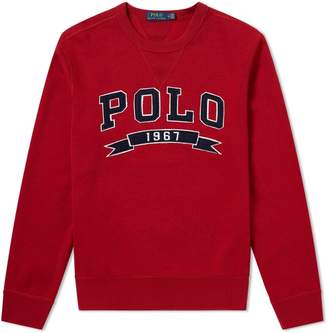 Polo Ralph Lauren Varsity Applique Logo Crew Sweat