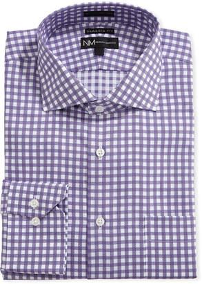 Neiman Marcus Classic-Fit Regular-Finish Check-Print Dress Shirt