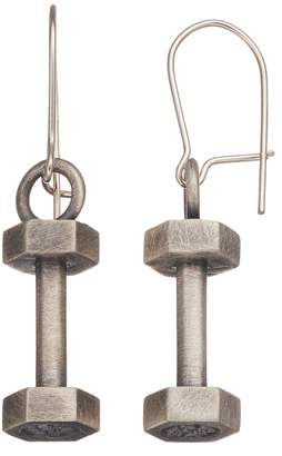 Insignia Collection Sterling Silver Dumbbell Drop Earrings