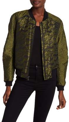 BCBGMAXAZRIA Jacquard Quilted Camo Jacket