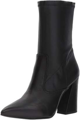 Kenneth Cole New York Women's Galla Pointed Toe Bootie with Flared Heel Stretch Shaft Ankle Boot