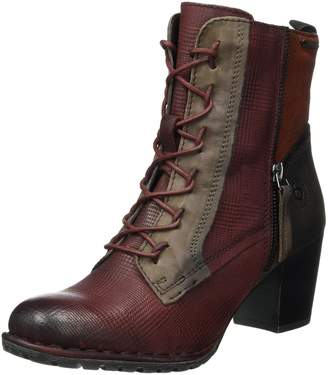 Bugatti Women Ankle Boots red, 411333343515-3181