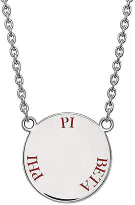 Pi FINE JEWELRY Delta Phi Enamel Sterling Silver Disc Pendant Necklace