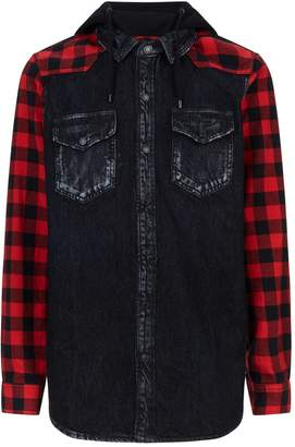 Marcelo Burlon County of Milan Denim Flannel Mix Jacket