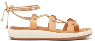 Ancient Greek Sandals Alcyone Lace Up Leather Sandals - Womens - Tan
