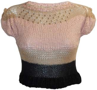 Swarovski Claire Andrew - Cropped Knit Top with Embellishment
