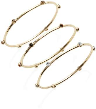 Etereo Set of 3 Crystal Bangle Bracelets