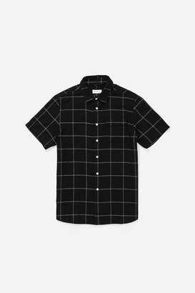 Saturdays NYC Laszlo Boucle Window Button Down Shirt