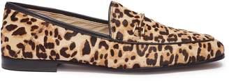 Sam Edelman 'Lorraine' horsebit leopard print cow hair step-in loafers