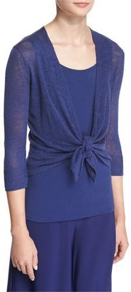 NIC+ZOE 4-Way Linen-Blend Knit Cardigan, Abyss $68 thestylecure.com