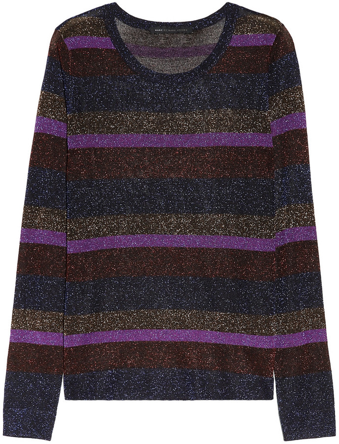 Marc by Marc Jacobs Vanya metallic striped sweater