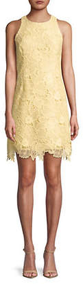 Eliza J Embroidered Lace Sleeveless Shift Dress
