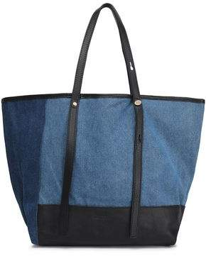 See by Chloe Andy Leather-Trimmed Two-Tone Denim Tote