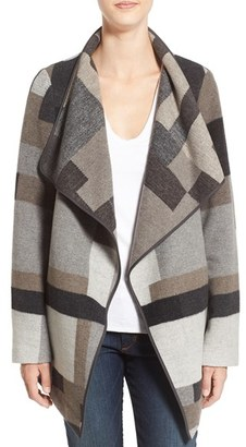 French Connection Geometric Print Blanket Coat $158 thestylecure.com