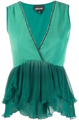 Just Cavalli plisse sleeveless top