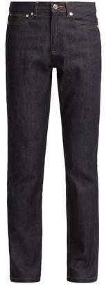 A.P.C. Droit High Rise Straight Leg Jeans - Womens - Indigo