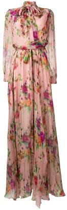 Blumarine pussybow maxi dress
