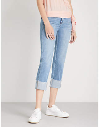 Paige Sarah straight high-rise stretch-denim jeans