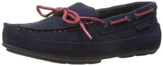 Cole Haan Boys' Grant Driver Navy Suede/RED-K