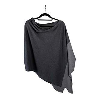 Tickled Pink Women's Color Block Cotton Poncho