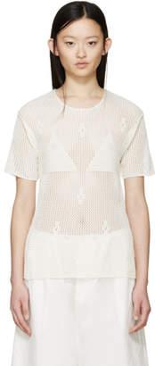 Maison Margiela Cream Crochet T-Shirt