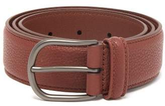 Andersons Anderson's - Pebbled Leather Belt - Mens - Brown