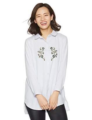 [ラナリオン] 胸刺繍ブラウス 胸刺繍ブラウス レディース 146351 ブルー 日本 M~L (日本サイズM-L相当)