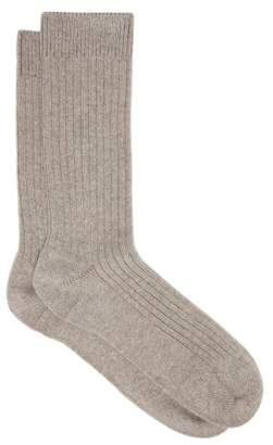 Hanro Ribbed Ankle Socks - Womens - Grey