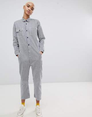 Carhartt WIP Relaxed Boiler Suit In Stripe