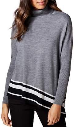 Karen Millen Asymmetric Striped-Hem Sweater